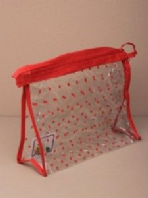 Clear PVC accessory/make up bag (Code 0724)